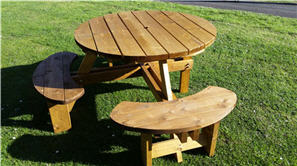 Wheel Chair Access Diabled Round Picnic Table Excalibur - Wheelchair picnic table