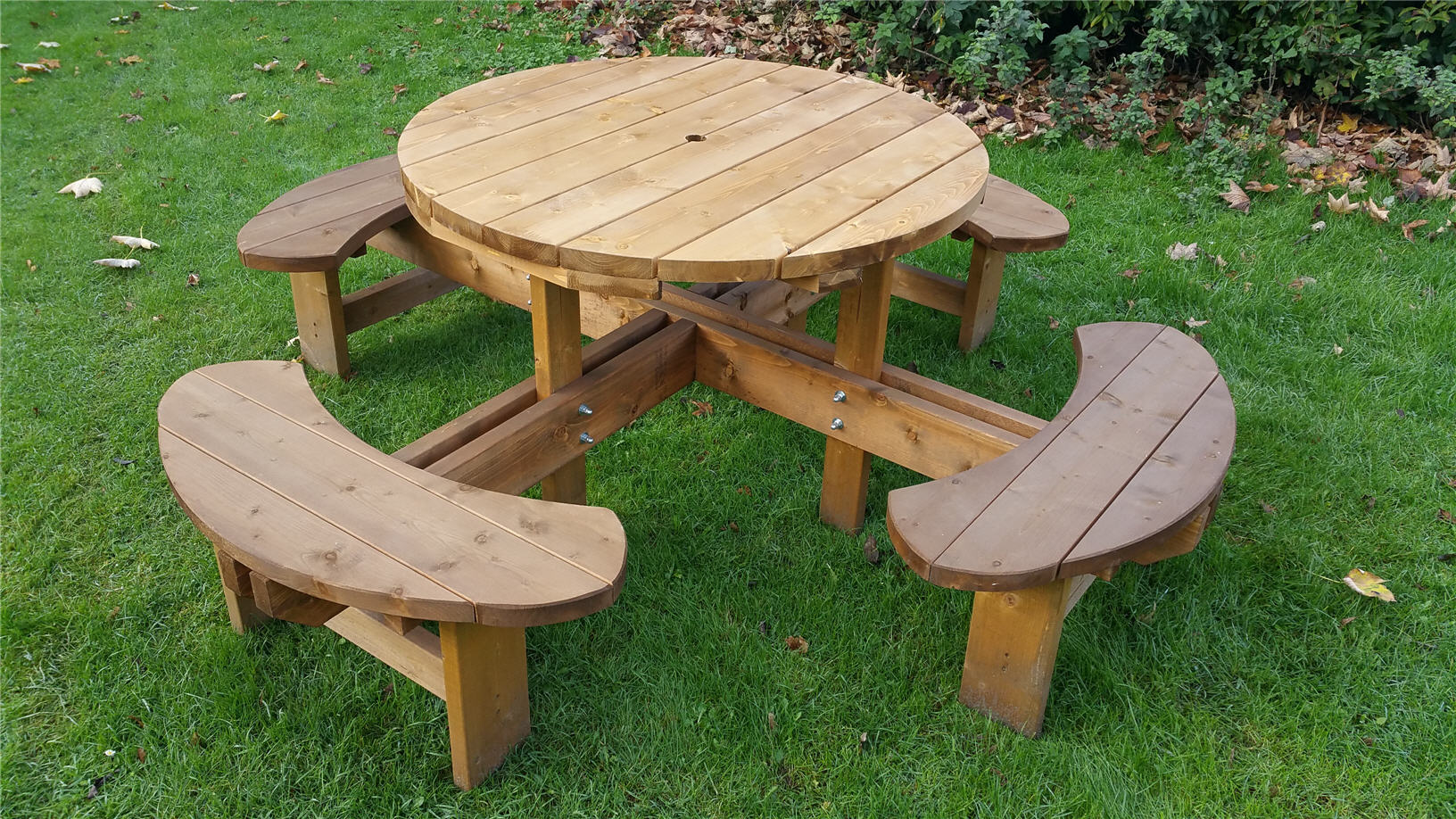Round Picnic Table Bench
