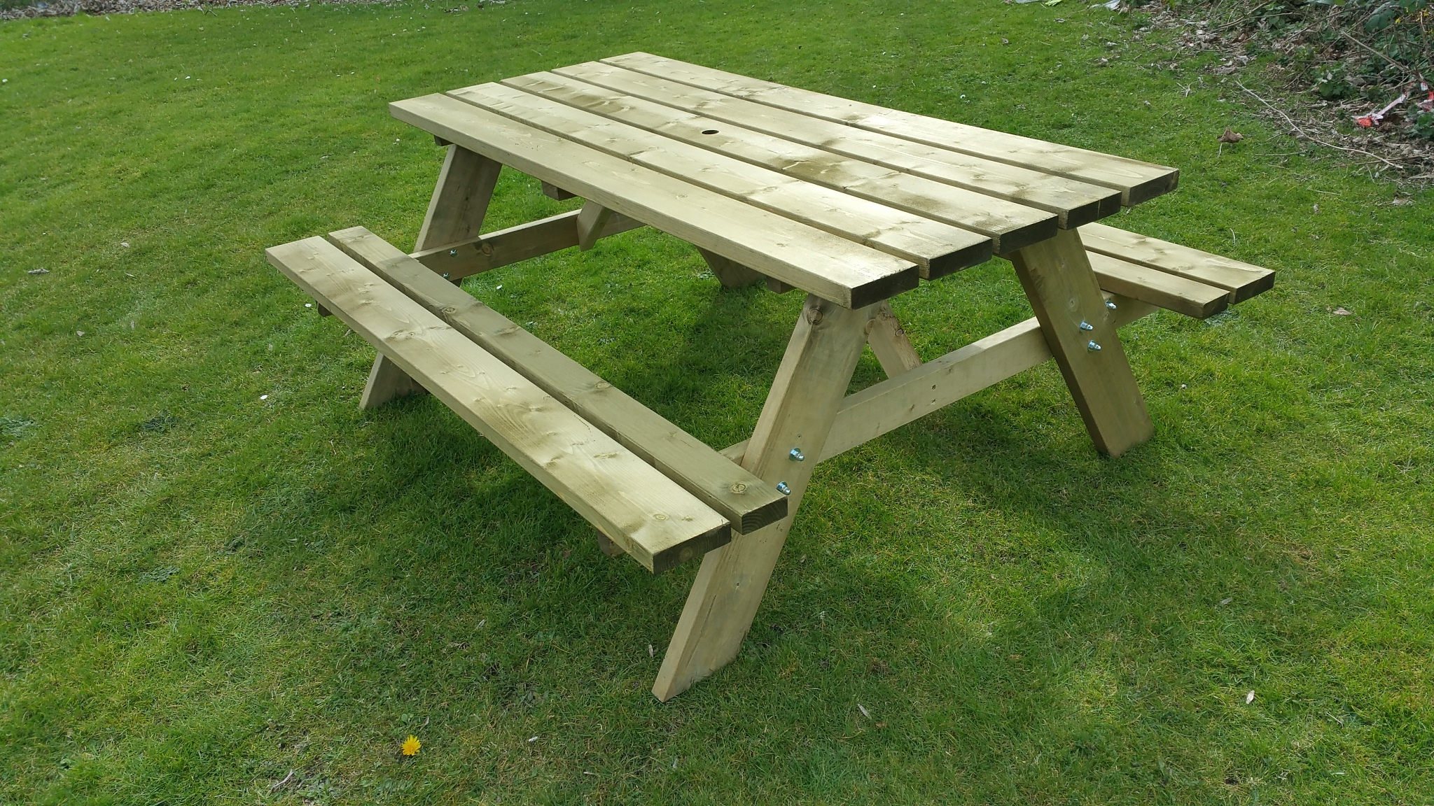 Heavy Duty 38mm Thick Rectangle Picnic Table