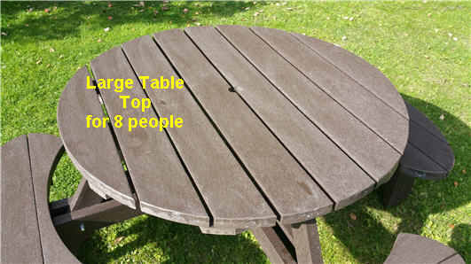Recycled Plastic Composite Picnic Table Bench Excalibur